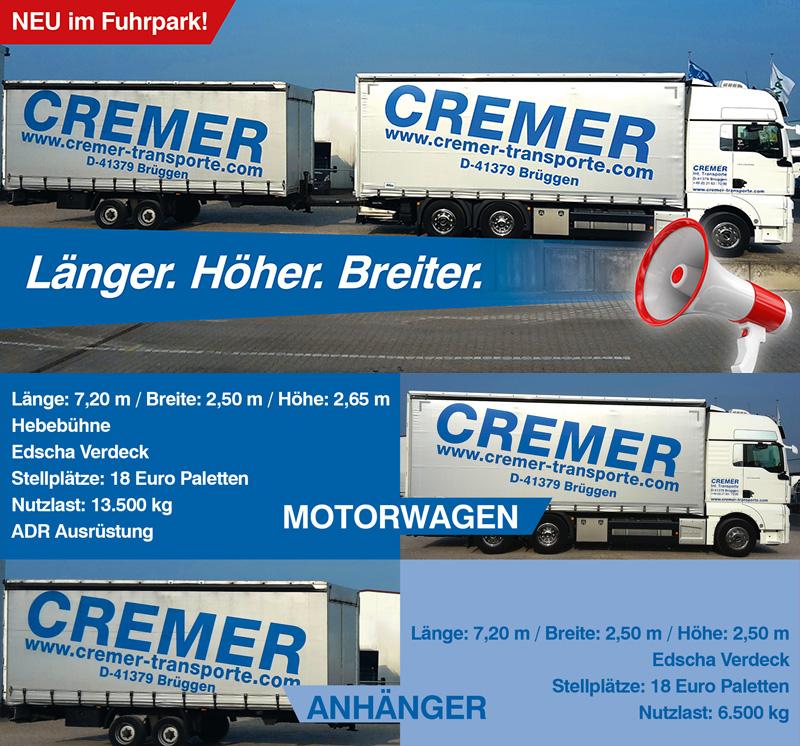 Cremer Internationale Transporte Transporte Logistik Transport